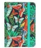 Jazzy Lined Notebook - Small butterflies